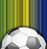 Background with soccer ball, Brazil 2014 football championship