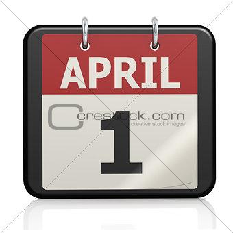 April 1, April Fools Day calander