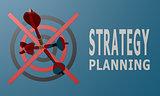 Dart board blue strategy planning