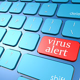 Virus alert keyboard