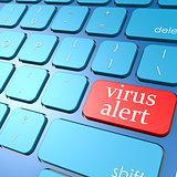 Virus alert keyboard