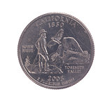 United States California quarter dollar coin