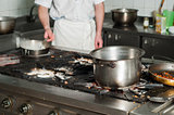 real dirty restaurant kitchen