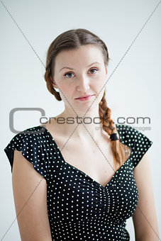 Portrait of relaxed looking attractive woman