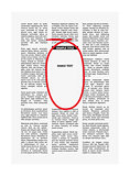 vector newspaper with highlighting