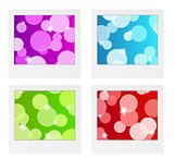 photo frame collection with bubbles