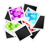 photo frame collection with bubbles or blank
