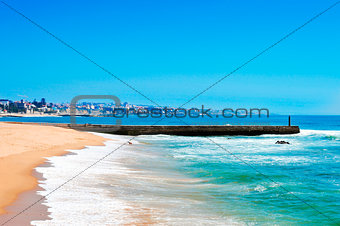 Beach of Tamariz in Estoril, Portugal