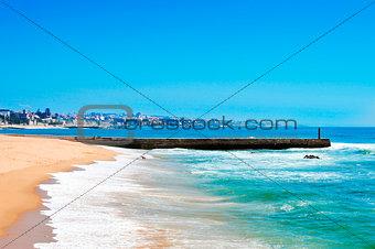Beach of Tamariz in Estoril, Portugal