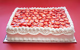 Birthday Strawberry Cake
