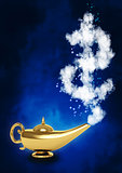 Magic lamp and dollar symbol