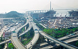 city overpass in HongKong,Asia China