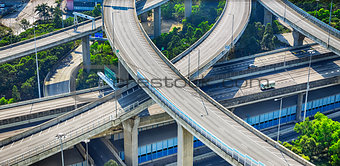 city overpass in Hong Kong,Asia China