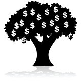 Money growing on tree