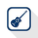 guitar flat icon