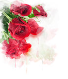 Red Roses Digital Painting