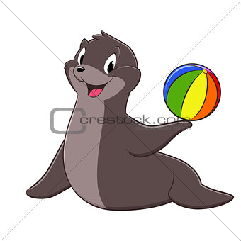 Cartoon Sea Lion