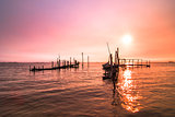 Old dock sunrise
