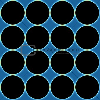 Abstraction background with a black circles