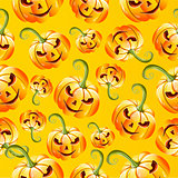 Seamless halloween pumkins pattern