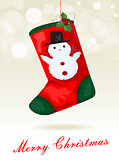 Christmas sock background