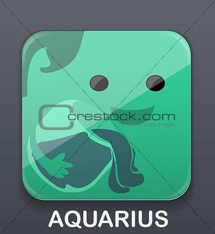 Aqarius zodiac icon