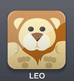 Leo zodiac icon