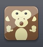 Cute monkey icon