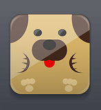 Cute dog icon