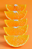 orange parts isolated