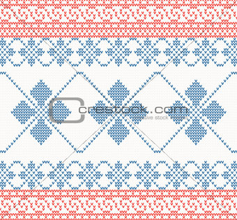 Knitted pattern with swirl and star