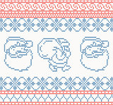 Knitted pattern with santa claus