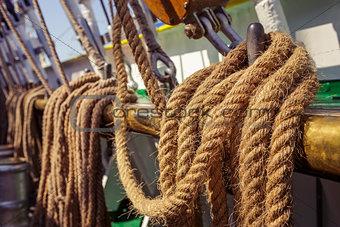 Aged marine ropes