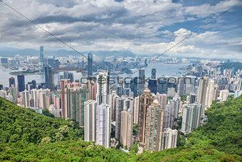 Aerial view of Honk Kong