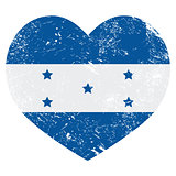 Honduras retro heart shaped flag