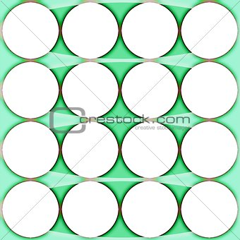 Abstraction background with a white circles