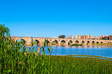 Old bridge over the Guadiana river