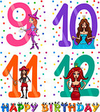 birthday cartoon design for girl