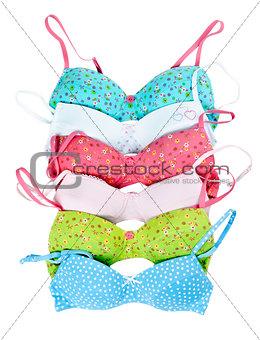 six color cotton bra