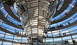Modern dome of Reichstag (Germany's parliament building)