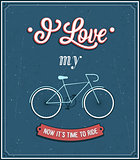 Vintage background with bicycle.