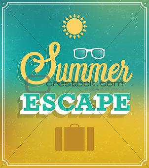 Summer Escape typographic design.