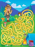 Maze 1 with scout girl