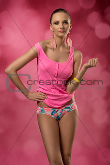 female with colorful sexy style