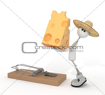 3d person and mousetrap.