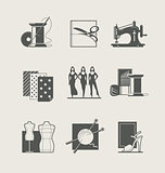 Sewing. Set of  icons
