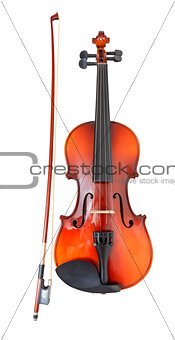 classical wooden violin with french bow