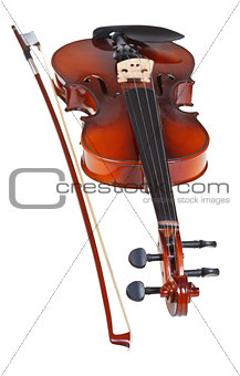 classical modern violin with french bow