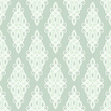 Seamless damask medallion pattern