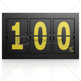 Airport display board 100 percent